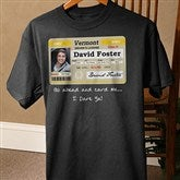 Driver's License Personalized Birthday Black T-Shirt - 12587-BT