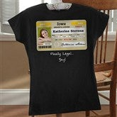 Driver's License Personalized Birthday Black Fitted Tee - 12587-FB