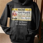 Driver's License Personalized Birthday Black Hooded Sweatshirt - 12587-BS