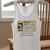 Driver's License Personalized Birthday White Tank - 12587-WTT