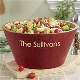 Bamboo Personalized Serving Bowl - Large - 12594-L-S