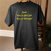 Birthday Greetings Personalized Personalized Black T-Shirt - 12599-BT