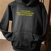 Birthday Greetings Personalized Black Hooded Sweatshirt - 12599-BHS