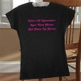 Birthday Greetings Personalized Black Ladies Fitted Tee - 12599-FTB
