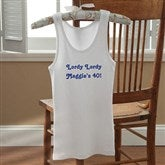 Birthday Greetings Personalized White Tank - 12599-WTT