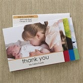 Baby Thank you Photo Note Cards & Envelopes - 12603