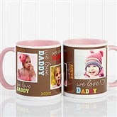 Loving You Personalized Photo Coffee Mug 11oz.- Pink - 12605-P
