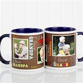 Loving You Personalized Photo Coffee Mug 11oz.- Blue - 12605-B: