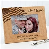 Military Hero Personalized Frame- 4 x 6 - 12608