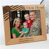 Military Hero Personalized Frame- 8 x 10 - 12608-L