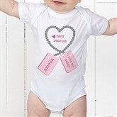 New Recruit Personalized Baby Bodysuit - 12609-CBB