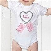 New Recruit Personalized Baby Bodysuit - 12609-CBB
