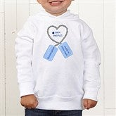 New Recruit Toddler White Hooded Sweatshirt - 12609-THS