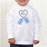 New Recruit Toddler White Hooded Sweatshirt - 12609-THS