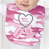 New Recruit Personalized Baby Bib - 12609-B