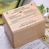 Bamboo Recipe Box - 1261-B
