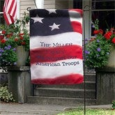 American Flag Personalized Garden Flag - 12615