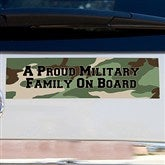 Camo Personalized Bumper Magnet- Rectangle - 12617-R