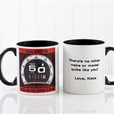 Birthday Oldometer Personalized Mug 11oz.- Black - 12625-B