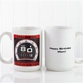 Birthday Oldometer Personalized Coffee Mug 15oz.- White - 12625-L