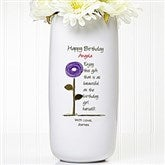 Birthday Blooms Personalized Ceramic Vase - 12628