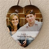 Photo Sentiments Personalized Heart Slate - 12631