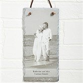 Photo Sentiments Personalized Vertical Slate Sign - 12633