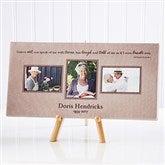 A Wonderful Life Memorial Photo Canvas Print-3 Photos- 5½