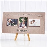 A Wonderful Life Memorial Photo Canvas Print-3 Photos- 5½