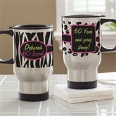 Flirty-Licious Personalized Birthday Travel Mug - 12700