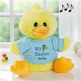 My First Easter Personalized Quacking Plush Duck- Boy - 12709-B
