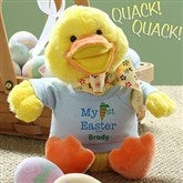 My First Easter Personalized Quacking Easter Duck- Boy - 12709-B