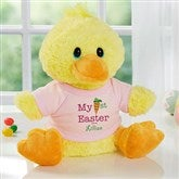 My First Easter Personalized Quacking Plush Duck- Girl - 12709-G