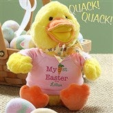 My First Easter Personalized Quacking Easter Duck- Girl - 12709-G
