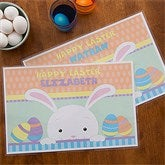 Easter Bunny Personalized Laminated Placemat - 12712