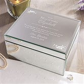 To My Bridesmaid Engraved Mirrored Jewelry Box-Large - 12714-L