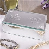 To My Bridesmaid Engraved Mirrored Jewelry Box-Small - 12714-S