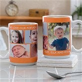 Picture Perfect Personalized Photo Mug- 15 oz.-5 Photo - 12730-L5