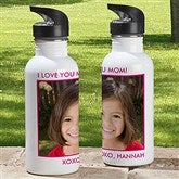 Picture Perfect Personalized Photo Water Bottle-1 Photo - 12732-1