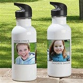 Picture Perfect Personalized Photo Water Bottle-2 Photos - 12732-2N