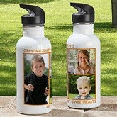 Picture Perfect Personalized Photo Water Bottle-3 Photos - 12732-3