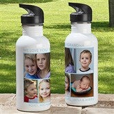 Picture Perfect Personalized Photo Water Bottle-5 Photos - 12732-5N