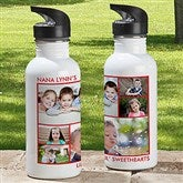 Picture Perfect Personalized Photo Water Bottle-6 Photos - 12732-6N