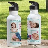 Picture Perfect Personalized Photo Water Bottle-4 Photos - 12732-4N