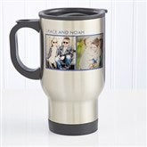 Picture Perfect Personalized Photo Travel Mug- 2 Photos - 12733-2