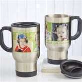 Picture Perfect Personalized Photo Travel Mug-3 Photos - 12733-3