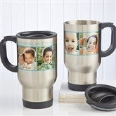 Picture Perfect Personalized Photo Travel Mug-4 Photos - 12733-4