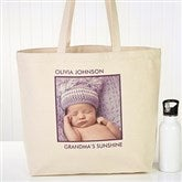 Picture Perfect Personalized Canvas Tote-1 Photo - 12734-1