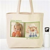 Picture Perfect Personalized Canvas Tote-2 Photos - 12734-2