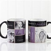My Favorite Faces Photo Black Handle Coffee Mug - 12739-B